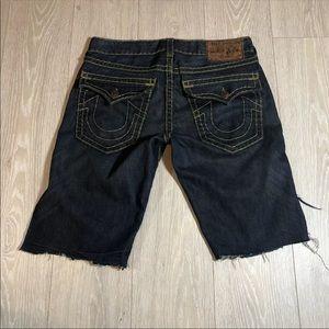 True Religion Jean Shorts Custom Size 33